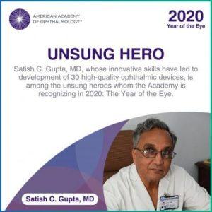AAO vinh danh NGƯỜI HÙNG THẦM LẶNG – Tiến sĩ Satish C. Gupta